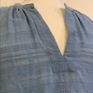BCBG Maxazria blue loose fit midi dress